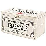 SIDCO - Caja de medicamentos de primeros auxilios, farmacias, caja de madera, decoración