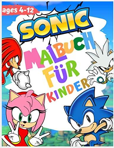 Sonic Malbuch für Kinder: Jumbo Malbuch mit hochwertigen Bildern ( unofficial )