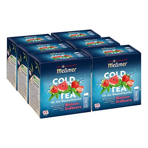Meßmer Cold Tea Melone-Erdbeere, 14 Pyramidenbeutel, 6er Pack
