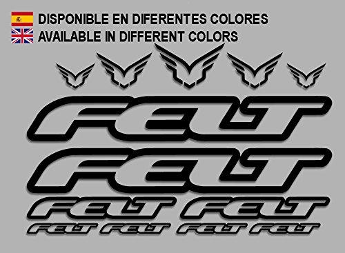 Ecoshirt J7-7XMO-Q921 Aufkleber Felt F172 Vinyl Adesivi Decal Aufkleber 2/3/6 MTB Stickers Bike, schwarz