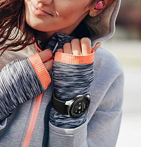 Samsung Galaxy Watch, Runde Bluetooth Smartwatch Für Android, drehbare Lünette, Fitness-tracker, 46mm, ausdauernder Akku, inklusive 2x araree Schutzfolie, Silber (Deutche Version)