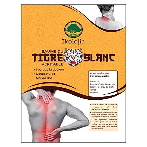 Parche de bálsamo de tigre blanco caliente (X24) | Antiinflamatorio, dolor de espalda, dolor de cuello, dolores musculares y articulares. Solía en medicina china [parches térmicos | Tamaño 10X7cm]
