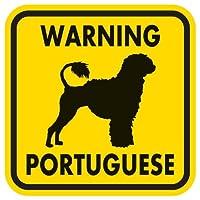 WARNING PORTUGUESE マグネットサイン:ポーチュギーズ/ライオンカット(イエロー)Mサイズ