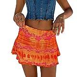 Mini faldas con volantes para mujer verano linda falda de playa floral sexy pliegues club faldas