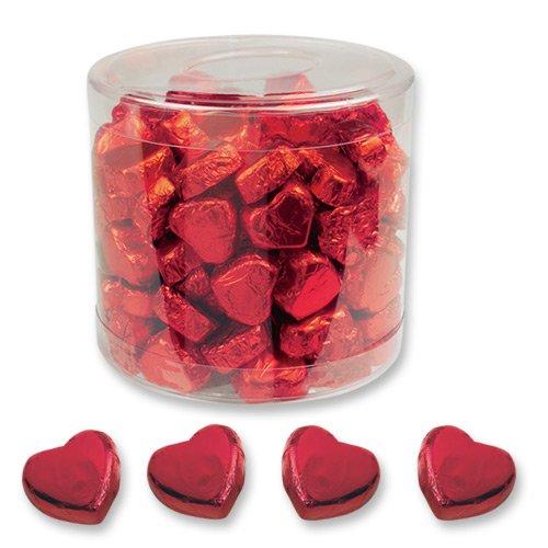 150 Schokolade Herzen, rot, Schoki Schokolade