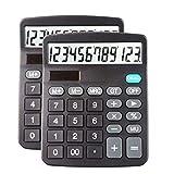Best Basic Calculators - Desk Calculators Large Display 2 Pack,Solar Calculator, Basic Review