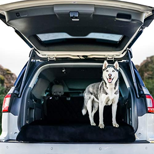 BarksBar Original Pet Cargo Cover & Liner for Dogs - 80 x 52 Black, Waterproof Machine Washable with Bumper Flap Protection- for Cars, Trucks & SUVs