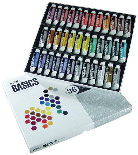 Liquitex Basics - Set de tubos de pintura acrílica (36 unid