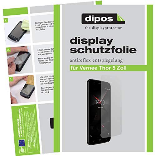dipos I 2X Schutzfolie matt kompatibel mit Vernee Thor 5 Folie Bildschirmschutzfolie
