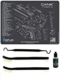 EDOG Canik TP9 SFX 5 PC Cerus Gear Schematic (Exploded View) Heavy Duty Pistol Cleaning 12x17 Padded Gun-Work Surface Protector Mat Solvent & Oil Resistant & 3 PC Cleaning Essentials & Clenzoil