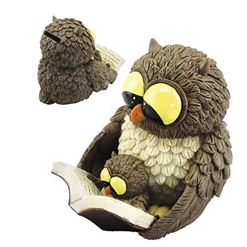 Funny Gufi Spardose - Eule liest junger Eule aus einem Buch vor