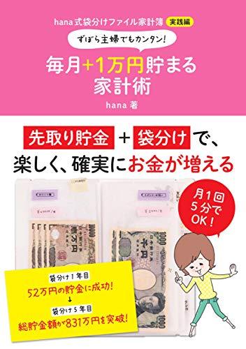 ずぼら主婦でもカンタン!  毎月+1万円貯まる家計術 hana式袋分けファイル家計簿 実践編
