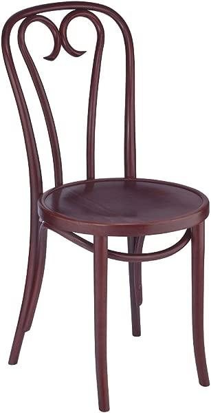 欧式曲木曲线木餐椅红木