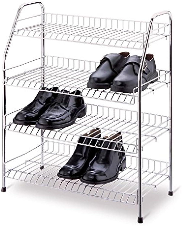 Organize It All 19701W 4-Tier Chrome Storage Shelf