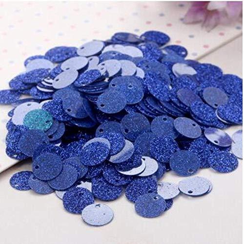 Glitter pailletten Dia 20mm Flash poeder PVC pailletten met 1 zijgat voor kledingaccessoires DIY kunstdecoratie Sieraden maken 20g, blauw, 20mm20g