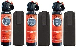 3 Personal Defense UDAP Bear Sprays w/ Holsters 12VHP