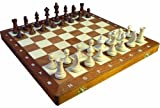 ChessEbook Tournament No 3 - Ajedrez de Madera, Tablero de 35 x 35 cm