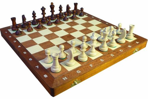 ChessEbook Schachspiel Staunton Nr. 3, 35 x 35 cm Holz