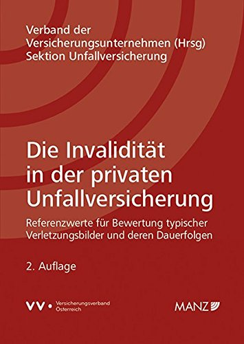 Die Invalidität in der privaten Unfallversicherung: Referenzwerte für Bewertung typischer Verletzungsbilder und deren Dauerfolgen