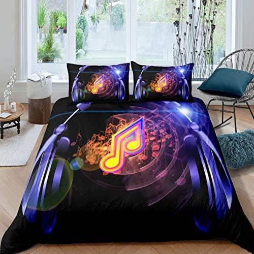ysldtty 3D Digital Duvet Cover Music Note Printed Bedding Set Comforter Cover Kids Adult Bedding Sets 200cm x 200cm