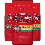 Community Coffee Half-Caff Medium-Dark Roast Coffee, Ground, 12 Ounces (3 Pack)