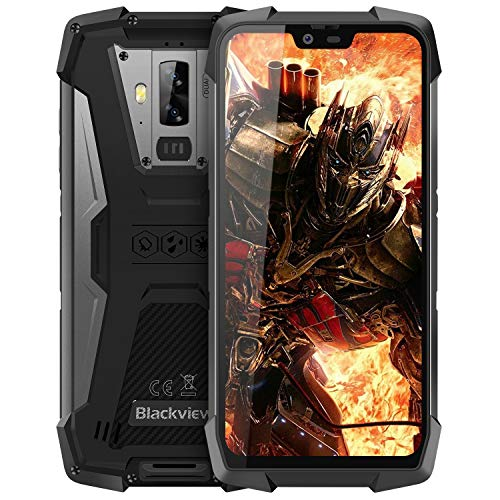 Outdoor Handy ohne Vertrag, Blackview BV9700 Pro Dual-SIM IP69K Robustes Smartphone - 5,84 Zoll FHD 16MP+8MP+16MP Triple-Kamera 128GB/6GB Helio P70 4380mAh Akku - Nachtsicht/Herzfrequenz/Luftqualität