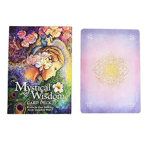 MAZ Mystische Weisheit Orakelkarten Tarot Deck Cards Lesen Sie Das Mythic Fate-Weissagung Für Fortune-Spiele (Englisch)