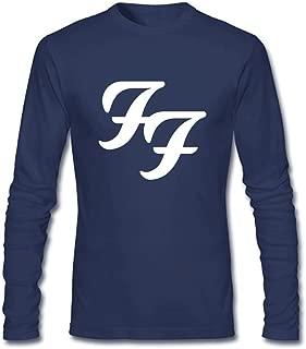 Wanon Men's Designer Foo Fighters Cotton Long Sleeve T-shirt