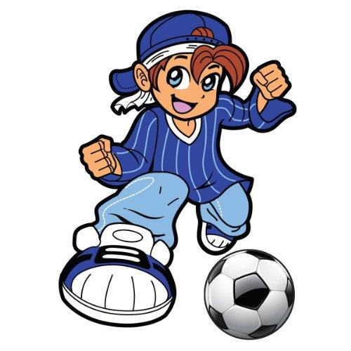 Sticker Footballeur Ptit vainqueur 43x60 cm