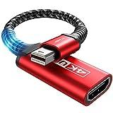 Mini DisplayPort to HDMI Adapter 4K, JSAUX Thunderbolt 2(Mini DP) to HDMI Female [Nylon Braided Aluminum Shell] Converter for MacBook air/pro, iMac/Mac Mini, Surface Pro/Dock, TV, Monitor&More (Red)
