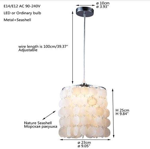Coquillage naturel blanc nordique moderne suspendu luminaire suspension E27 LED pour maison déco chambre salon restaurant