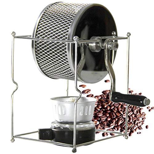 NLYWB Handmatige koffiebonen, DIY Food Garde koffiebrander, met de hand bediend roterend wielontwerp met alcoholkachel voor thuis, kantoor