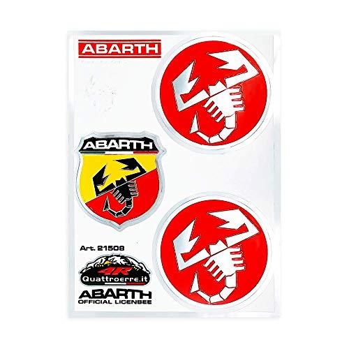 Abarth 21508 Adesivi Sticker Tabs 1 Scudetto 2 Scorpioni