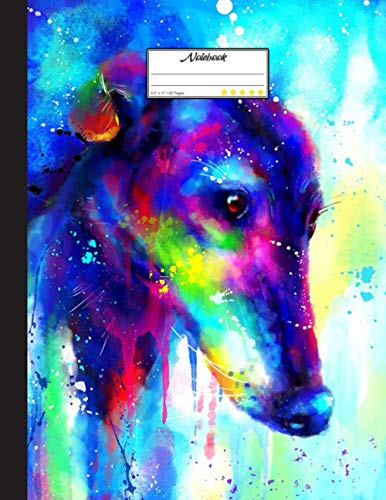 Color Greyhound Notebook: Blank Lined Journal for Greyhound, Dog Lovers, Dog Mom, Dog Dad and Pet Owners | 8.5x11 with College Ruled Pages