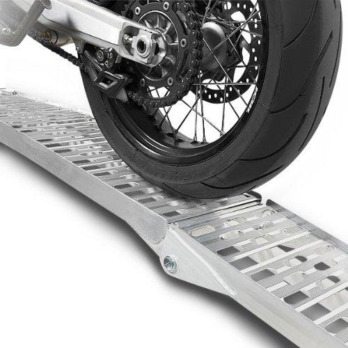 1x ConStands Alu I-Auffahrrampe Motorrad Alu Klappbar Auffahrschiene Verladerampe bis 340kg