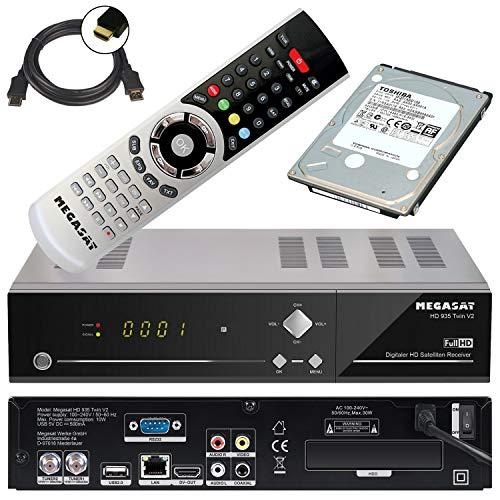 Megasat HD 935 Twin V2 HD-SAT-Receiver Aufnahmefunktion, Ethernet-Anschluss, Twin Tuner Anzahl Tuner 201133 schwarz
