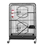 XEMQENER Rabbit Cage Pet Cage for Rat Ferret Chinchilla Rodent Guinea Pig, Small