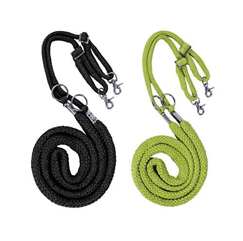 netproshop Longierhilfe aus Baumwolle Größe: Pony bis XL-Full Farbauswahl, Farbe:Schwarz, Groesse:L