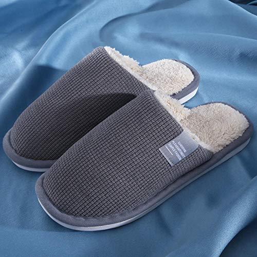 Damen Herren Winter Memory Foam Pantoffeln,rutschfeste warme Hausschuhe, leise...