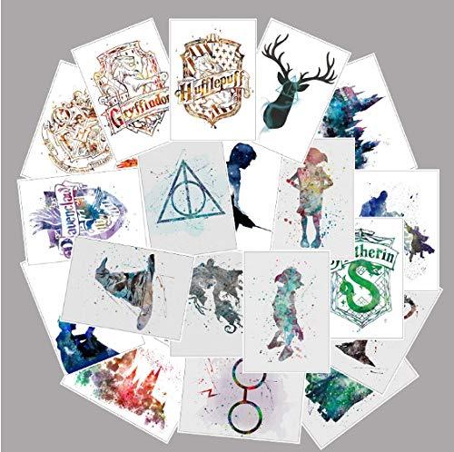 YLGG Film Harry Potter Aufkleber Für Gepäck Laptop Kunst Malerei DIY Poster Aufkleber Wasserdicht Skateboard Spielzeug 25 Stücke