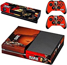 Calantha & Partner Vinyl Skin Sticker Cover Decal for Microsoft Xbox One Console and Remote Controllers Red Dead HD Printing