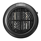 Everpertuk - Estufa eléctrica para baño de bajo consumo, portátil, calefactor de cerámica, 900 W, mini calefactor eléctrico para oficina y casa, termostato ajustable con temporizador