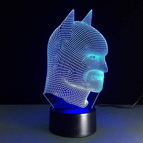 3D Led Illusion Lampe Veilleuse Cool Cadeau De Noël Batman avec Veilleuse Led Acrylique 3D Lampe de Table avec Interrupteur Tactile G3D 261 pour Bébé Chambre Décoration Re