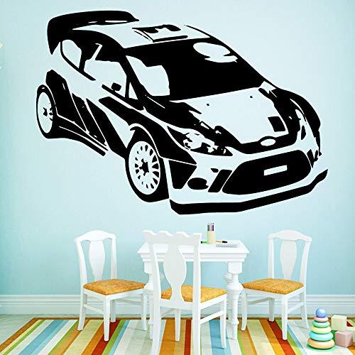 Romántico coche deportivo etiqueta de la pared suministros para bebés decoración de la habitación de los niños vinilo art deco etiqueta de la pared A3 L 43x61cm
