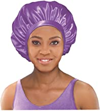 Stay On Satin Satin Edge Bonnet Extra Large (Lilac)