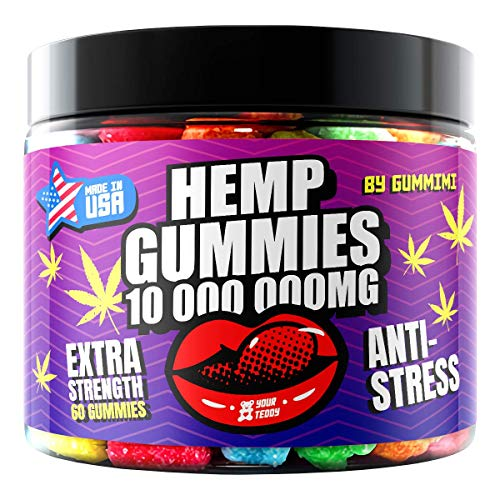 Hеmp Gummies – Gummy Bears for Stress-Relief and Pain – High-Strength Formula – Fruity Candy Supplements for Relaxed Mood and Calm – Pack of 60 Soft Chews
