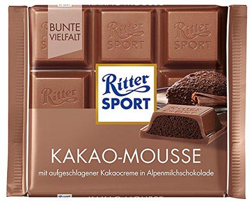 11x Ritter Sport - Bunte Vielfalt Kakao-Mousse - 100g