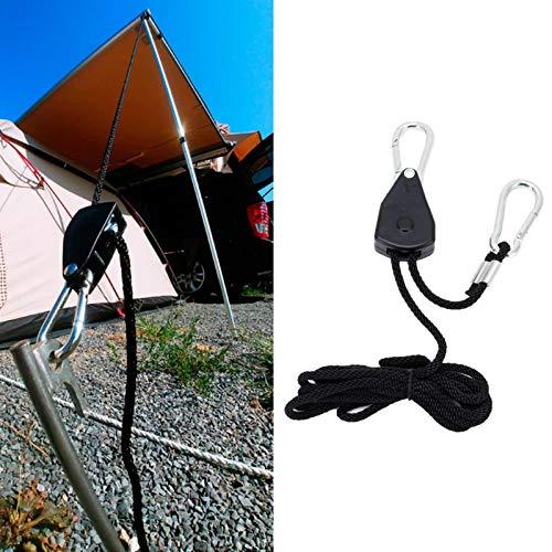 Hebilla de cuerda a prueba de viento, accesorio de tienda Polea de hebilla de cuerda ajustable Hebilla de cuerda ajustable para senderismo