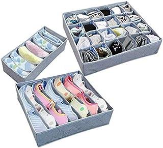 3pcs Organizer Underwear Bras Socks Tie Storage Holder Foldable Box