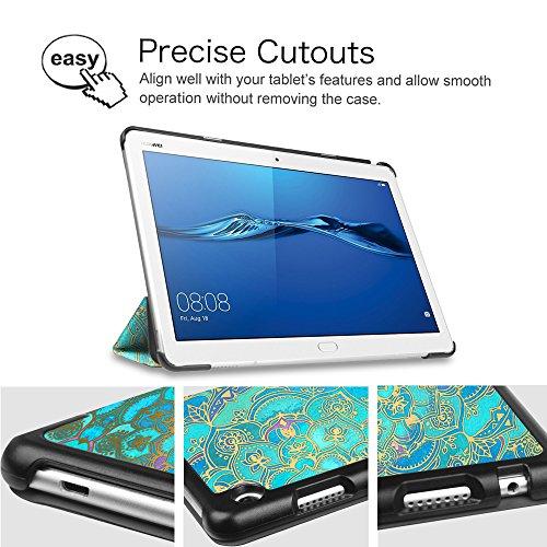 Fintie Huawei Mediapad M3 Lite 10 Hülle - Ultra Dünn Superleicht SlimShell Case Cover Schutzhülle Etui Tasche mit Zwei Einstellbarem Standfunktion für Huawei Mediapad M3 Lite 10 Zoll, Jade - 6